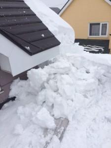あいの里 屋根雪